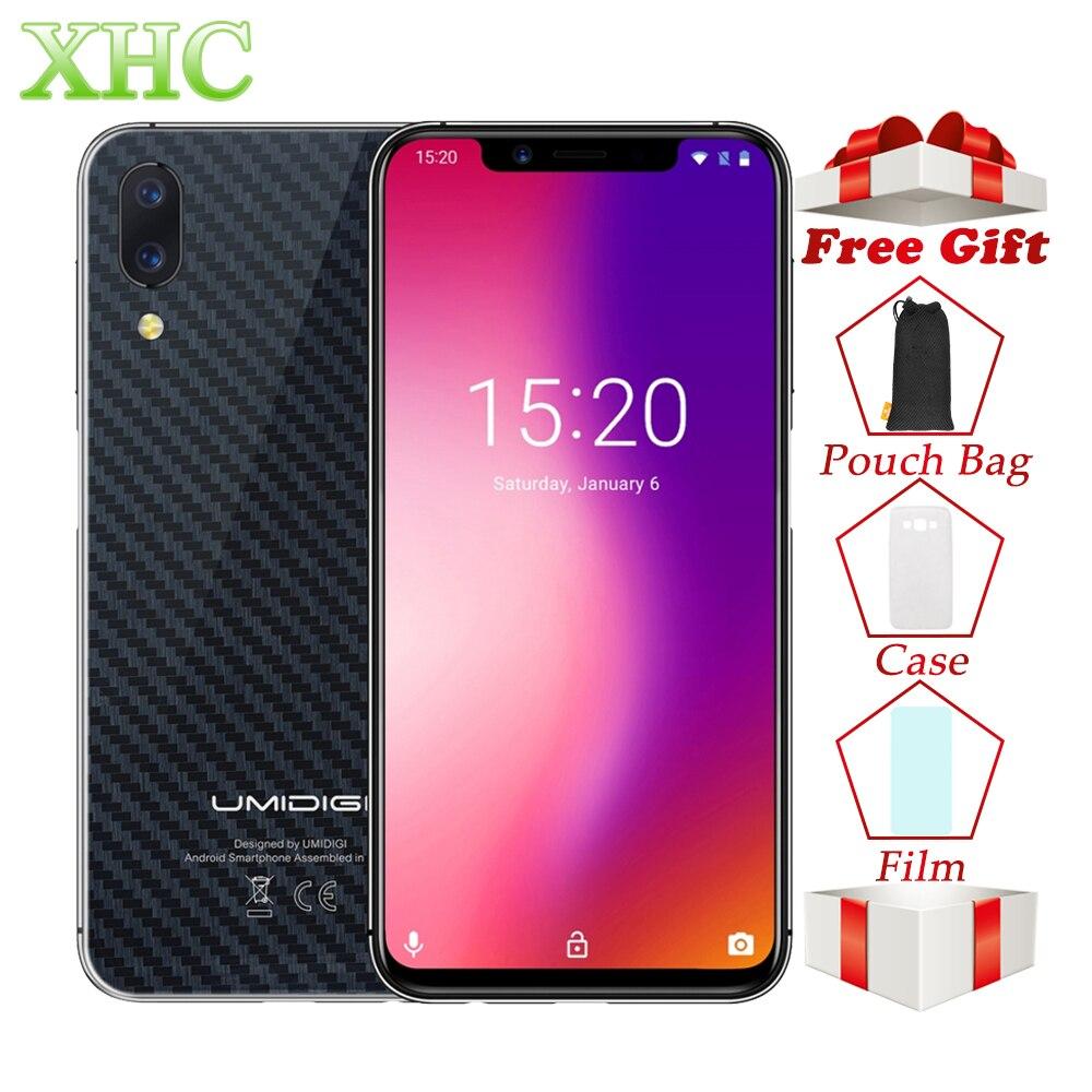 UMIDIGI Un Double 4G VoLTE Mobile Téléphone 4 GB + 32 GB Visage ID 5.9 ''Android 8.1 Double SIM 16MP 12MP Helio P23 Octa Core Smartphones