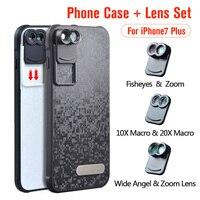 Phone Dual Camera Lens Fisheye Wide Angle Macro Telescope Camera Phone Lense With Protection Case