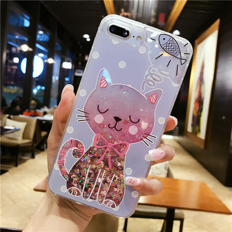 For Coque iPhone SE Case Soft Silicone TPU Liquid Quicksand Glitter Cover for Funda iPhone 5S