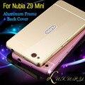 2015 New ZTE Nubia Z9 Mini Case Metal Aluminium Frame + PC Back Cover Phone Case Full Edge Close Fundas ZTE Nubia Z9 Mini NX511J