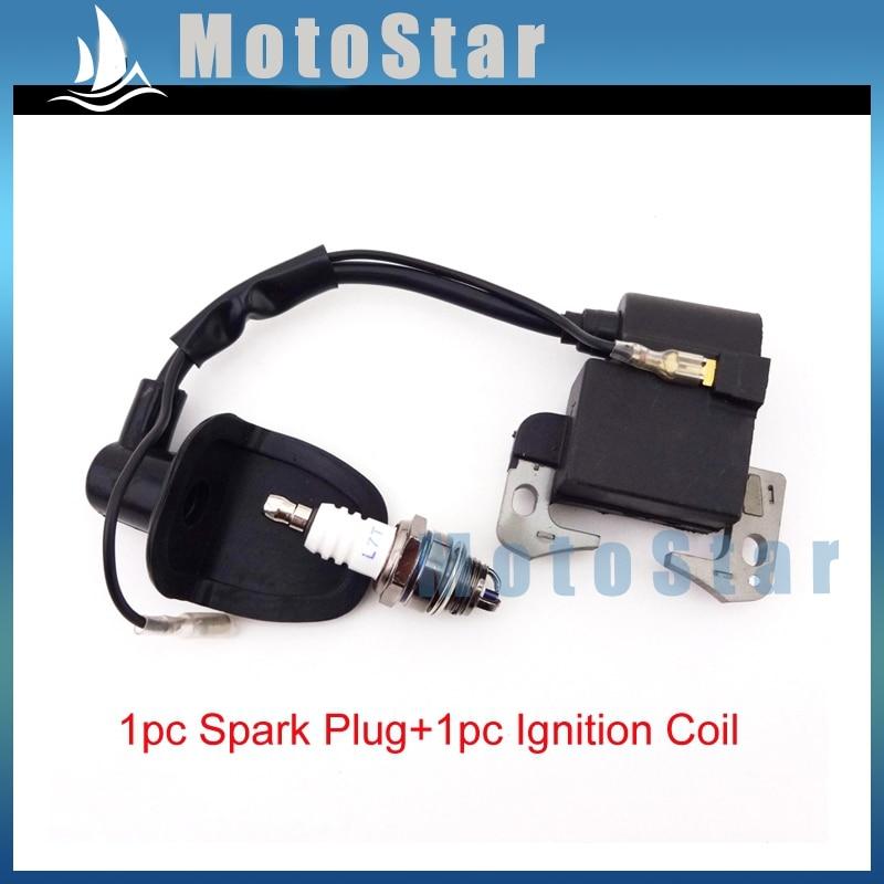 3 Electrode Spark Plug L7T For 47cc 49cc 2 Stroke ATV Quad Dirt Pocket Bike