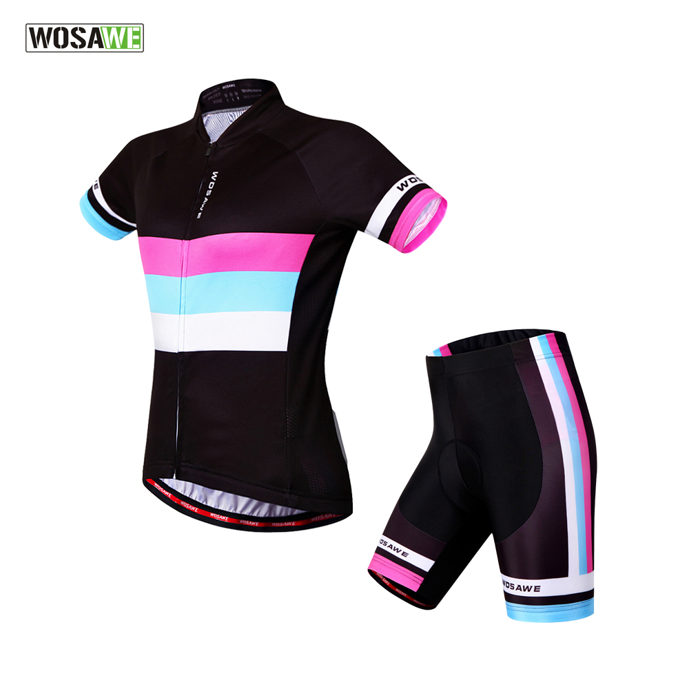 Psg black and pink jersey - Wosawe Women Roupa Maillot Ciclismo Funny Cycling Jerseys Bicicleta Bicycle Cycling Clothing Bike Sports Wear Psg