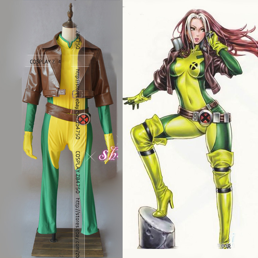 x men rogue cosplay costume for adult halloween outfit custom made any sizechina - Ebaycom Halloween Costumes