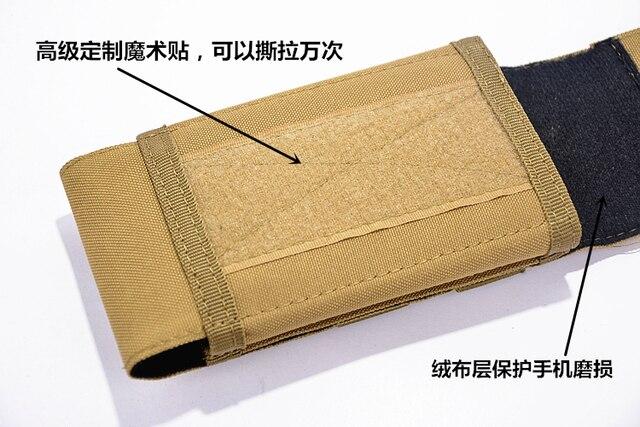 SZLHRSD pour HomTom S7 étui extérieur MOLLE armée Camo Camouflage crochet boucle sac pour Doogee Mix 2 Blackview S8 Oukitel K8000