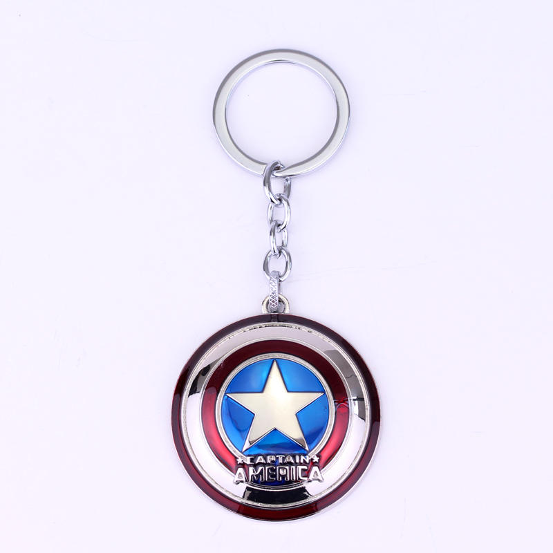 Movie The avengers Captain America keychian Character Captain America Shield Keychain fashion men car holder keyrings jewelry