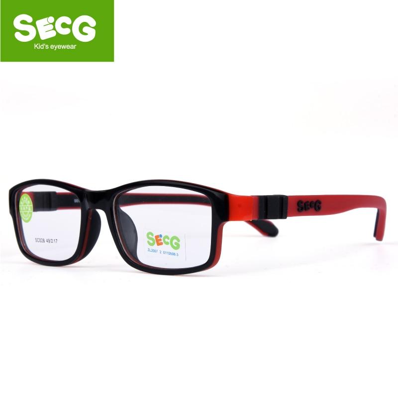 SECG Enfant Amovible Enfants Cadre Flexible Souple Optique Lunettes Enfants Cadre Dioptrique Lunettes Montures de lunettes Oculos Gafas