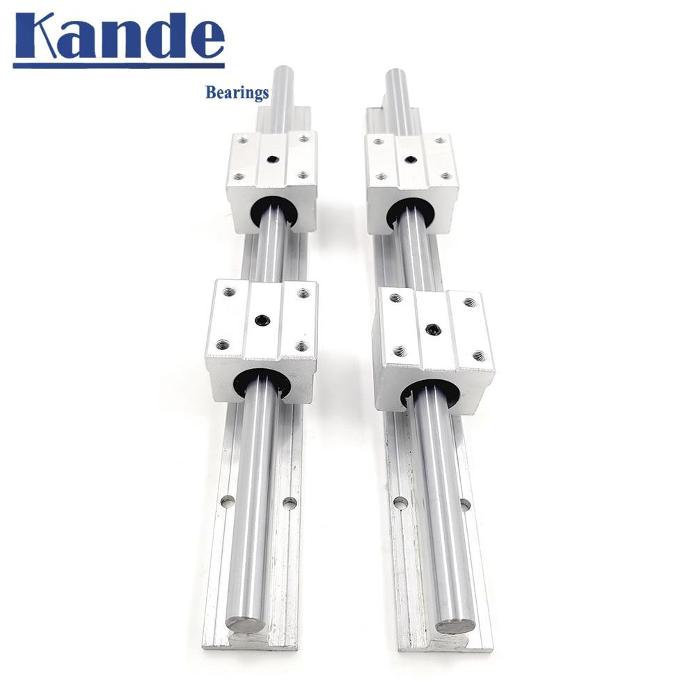 2 ensemble rail linéaire SBR12 300 350 400 450 500 550 600 700 800 900 1000mm 2 pièces de guidage linéaire SBR12 + 4 pièces SBR12UU blocs pour CNC