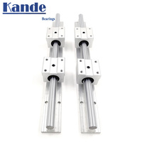 2set linear rail SBR12 300 350 400 450 500 550 600 700 800 900 1000mm 2pcs linear guide SBR12 + 4pcs SBR12UU blocks for CNC