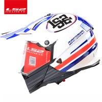 2016New LS2 MX436 Motorcycle Helmet Double Lens Motocross Rally Off Road Helmet Top Quality Capacete Motoqueiro