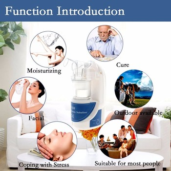 Free Nebulizer Machine | Cosmetology Vaporizer Ultrasonic Nebulizer Handheld Personal Cool Mist Inhaler Aromatherapy Essential Oil Humidifier For Face