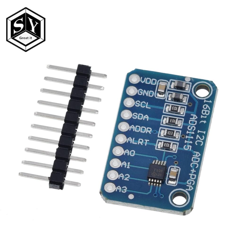 1 Pcs Große Es 16 Bit I2c Ads1115 Modul Adc 4 Kanal Mit Pro Gain Verstärker Für Arduino Rpi