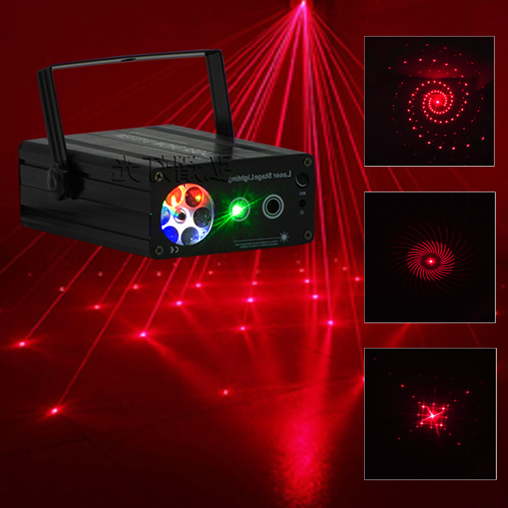 Red and Green Laser Projector Mini 2in 1 Patterns Snowflower Whirlwind Lighting Stage Disco DJ Club KTV Xmas Family Party LightRed and Green Laser Projector Mini 2in 1 Patterns Snowflower Whirlwind Lighting Stage Disco DJ Club KTV Xmas Family Party Light