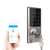 Phone APP Control Office Apartment Home Anti Theft Smart Touch Pad Code Lock Security Entry Password Door Lock