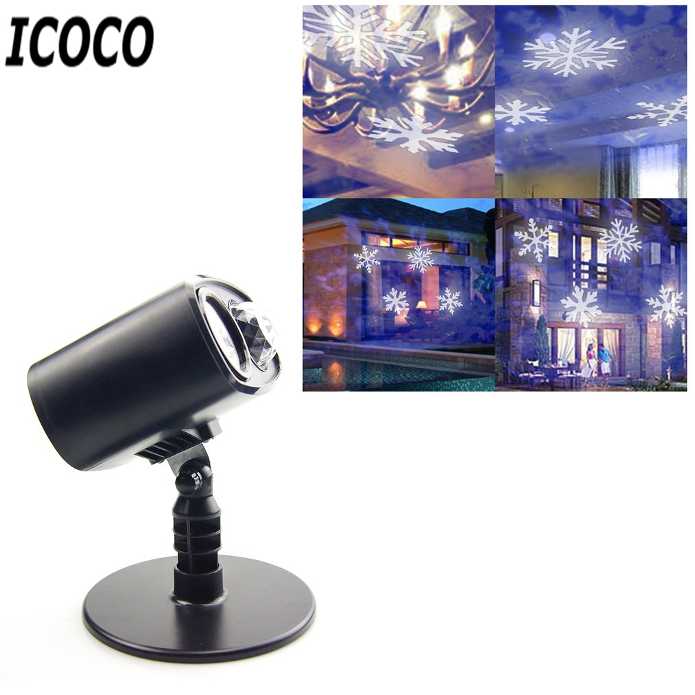 ICOCO LED Moving Landscape Projector Light Spotlight Stake Lamp for Christmas Halloween Festival Party Holiday Decor Drop Ship