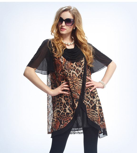b44baf4106 Leopard Animal Print Summer Style Swing Dresses Women Plus size Vestidos  smock dress 3XL Clothing Quality Dresses