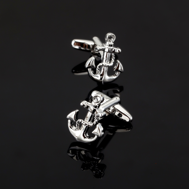 Radient Xk328 Sea Series Rudder Anchor Pirate Ship Skull Cuff Links Wedding Party Gift Cufflinks For Mens French Suit Shirt Button Durable Service Jewelry Sets & More