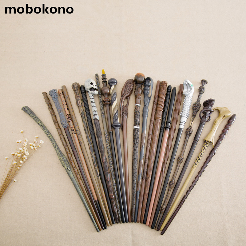 Hot Sale New Arrive Metal Iron Core Cosplay Malfoy Dumbledore Hermione Voldemort Wand Harry Potter Magic Wand Gift Box Packing 2style cosplay albus dumbledore play magical magic wand gift in box metal core harry potter magical wand