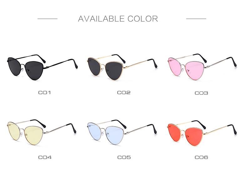 Gafas de sol de ojo de gato Vintage pequeñas y sexis para mujer 4