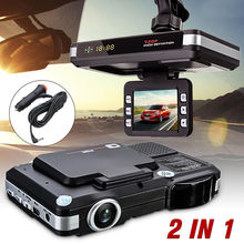 2019 NEW For 2 in 1 MFP 5MP Car DVR Recorder+Radar speed Detector Trafic Alert English Dropshipping Backup Camera 2.27(China)