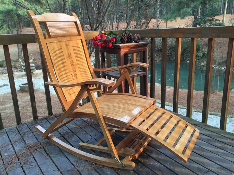 Schommelstoel Op Balkon : Schommelstoel volwassen lui lunchpauze vouwen bamboe fauteuil