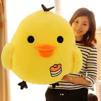 Little yellow chicken figurine big fat chicken yellow chick cute pillow plush toy