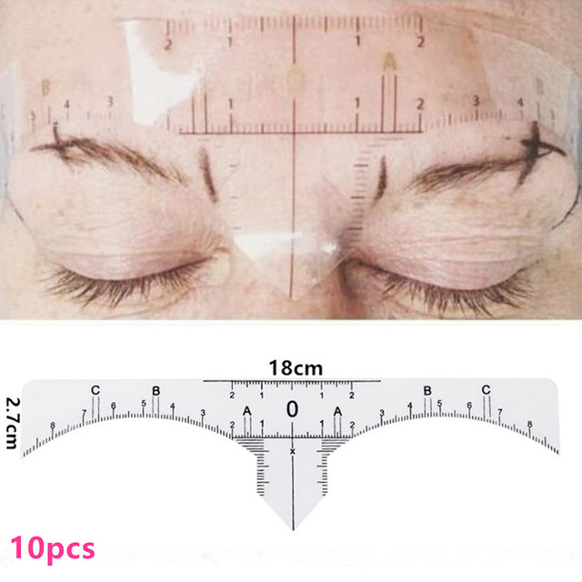 4x Different Microblading Eyebrow permanent tattoo eyebrows Shaper Template Stencil Ruler Definition Permanent Makeup 5