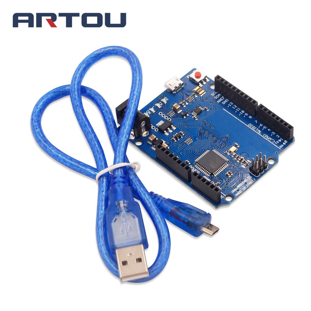 1PCS Leonardo R3 ATmega32u4 Development Board with USB Cable for ard uino DIY Starter Kit ...