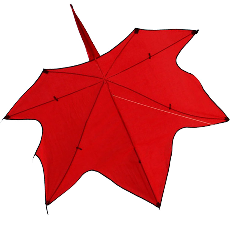 Maple Leaf Red Kite With Handle And Line