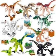 Jurassicc park Building Block bricks Baby Dinosaur pterosaur Indomirus T-Rex Triceratops Brick baby toys children gift