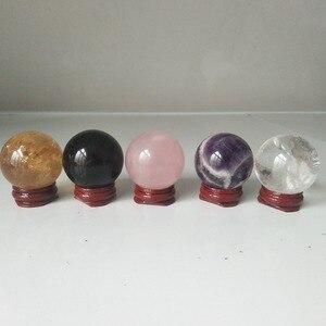 Image 3 - Boules de cristal en quartz naturel, cristaux de guérison, calcite + cristal de rose + améthyste de rêve + cristal transparent, 5 pièces/lot