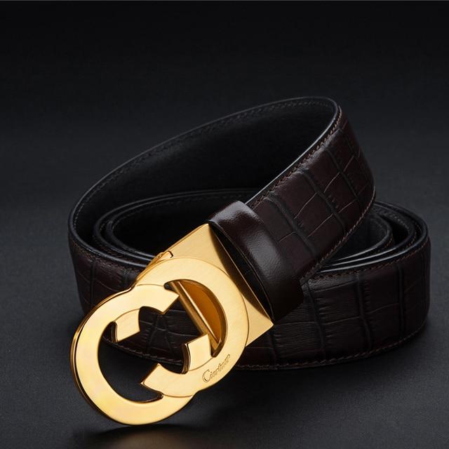 la meilleure attitude 01bab 6db6f 2019 nouveau Ciartuar Design de luxe en cuir vachette ceinture homme hommes  ceintures Unique CC nouvelle mode meilleur cadeau riem heren