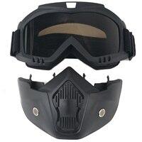 Universal Ski Bike Motorcycle Bike Detachable Modular Riding Helmet Goggles Shield Face Mask Motocross Motorbike Motor Glasses