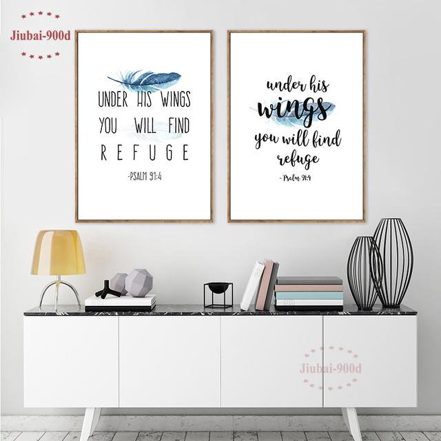 Aliexpress.com : Buy 900d Posters and Prints Bible Verse Canvas ...