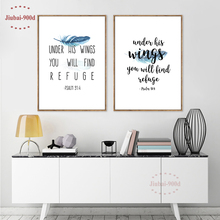 900d Posters and Prints Bible Verse Canvas Printings Poster Wall Pictures for Home Decoration Giclee Wall Decor CM012-1