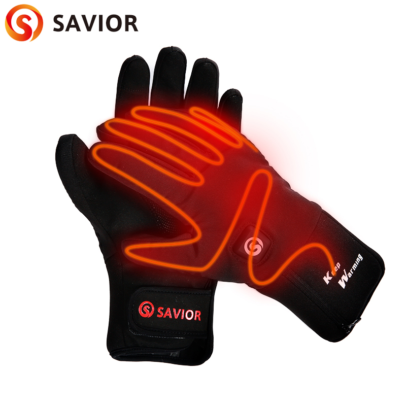 Спаситель нагревательные перчатки 7,4 V батареи отопление перчатки Спорт на открытом воздухе Охота ходьба на лыжах Зимние теплые