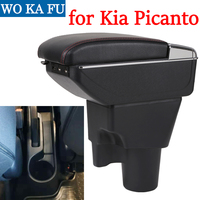 For Kia Picanto armrest box armrest universal car center console modification accessories double raised with USB