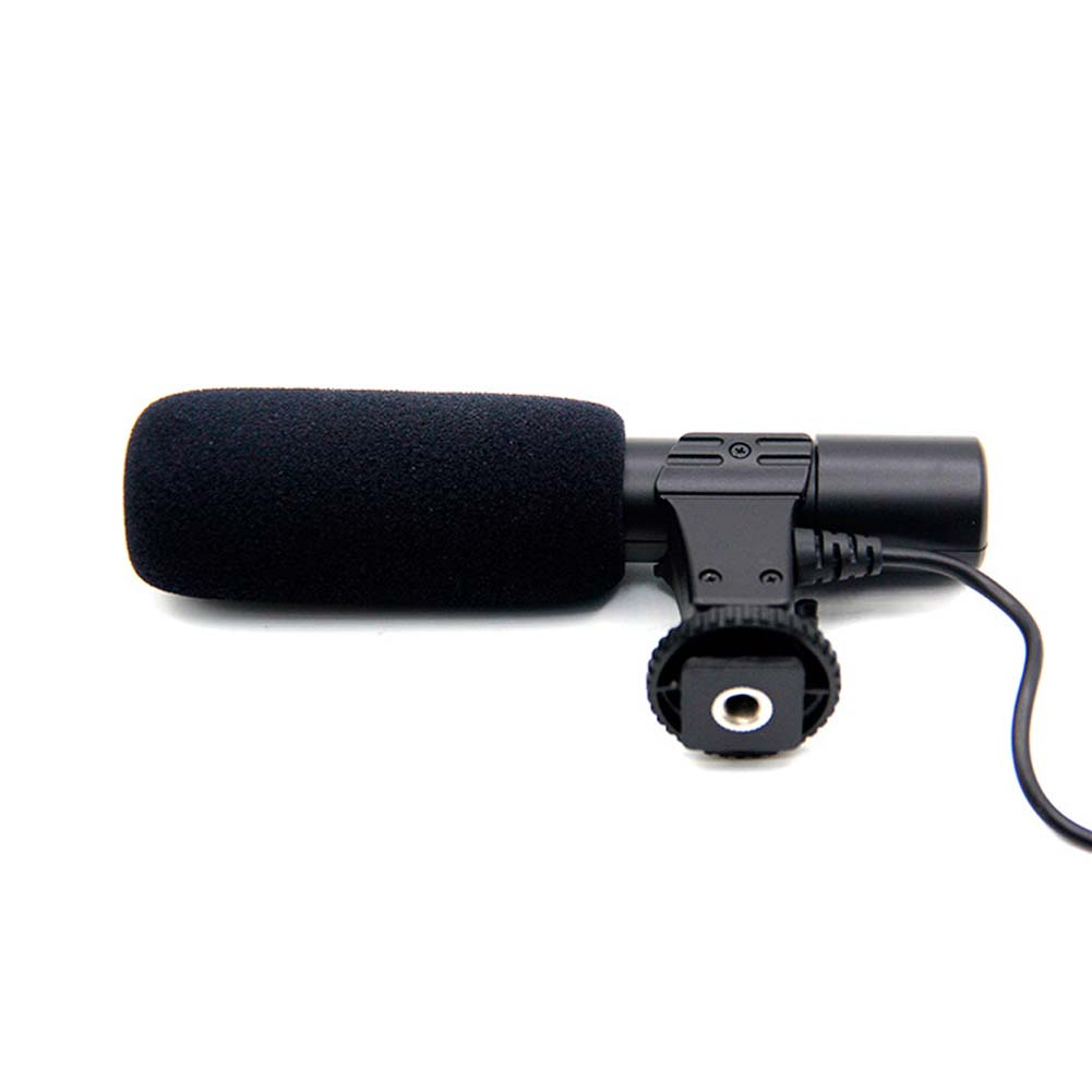 Shotgun For Canon VIXIA HF M300 Bower Elite Stereo Microphone With Windscreen