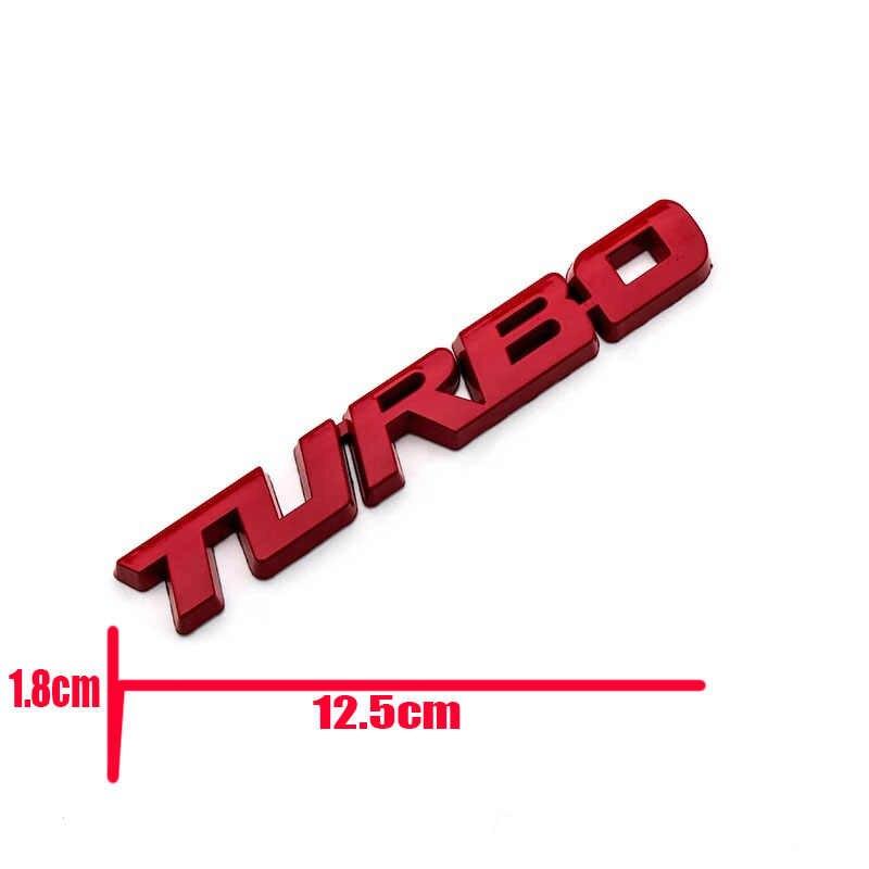 3D godło TURBO metalowy grill bagażnika z tyłu przypinka samochodowa samochodów naklejka na audi BMW Ford focus VW siedzenie do skody Peugeot lada Renault Hyundai