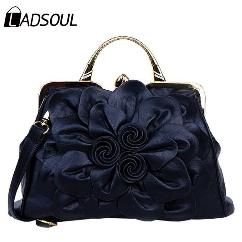 Ladsoul new design flower women bags famous brand women handbags leather messenger bags shoulder bags ladies