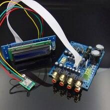 M62446 6 Kênh Điều Khiển Từ Xa Điều Khiển Âm Lượng Tiền Khuếch Đại Màn Hình Hiển Thị LCD 5.1 Âm Lượng Âm Thanh Preamp NE5532 OP AMP Cho Khuếch Đại