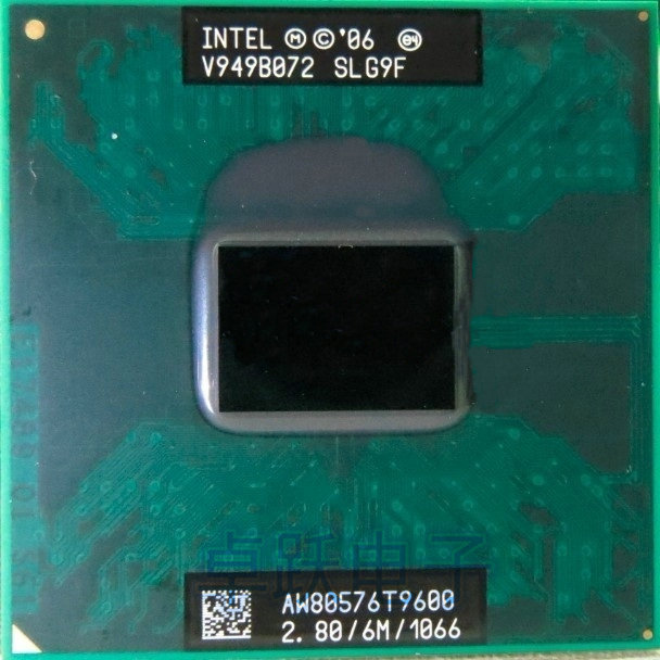 Free Shipping intel CPU laptop Core 2 Duo T9600 CPU 6M Cache/2.8GHz/1066/Dual Core Socket 479 processor t9900 P9600 GM45 PM45