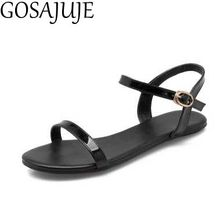 2017 summer new european style women sexy 32 33 flat sandals free shipping shos woman fashion student shoes Large size 40 hot