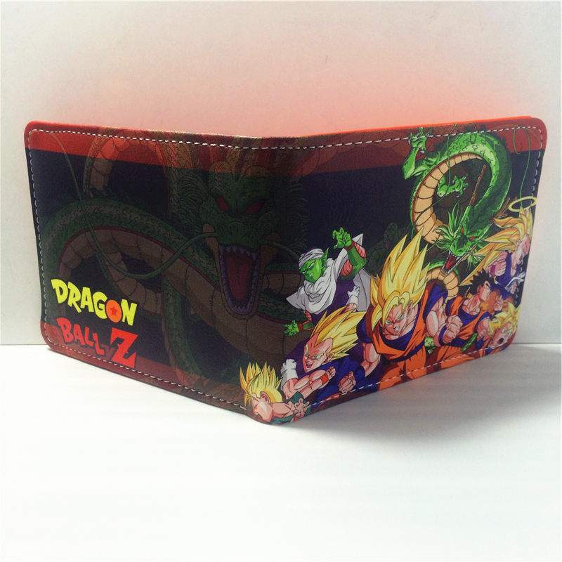 2018 Fashion Dragon Ball Z Son Goku Cartoon Wallet Purse Short Wallet For Men Women W408 dragon ball z wallets men women creative gift purse standard short wallet leather money organizer bags cartoon anime wallet