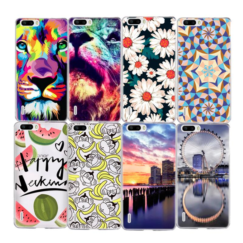 Flowers Painted Case For Huawei P8 Lite Honor 4C P9 P9 Lite Soft TPU Phone Pattern Silicone Cover Shell