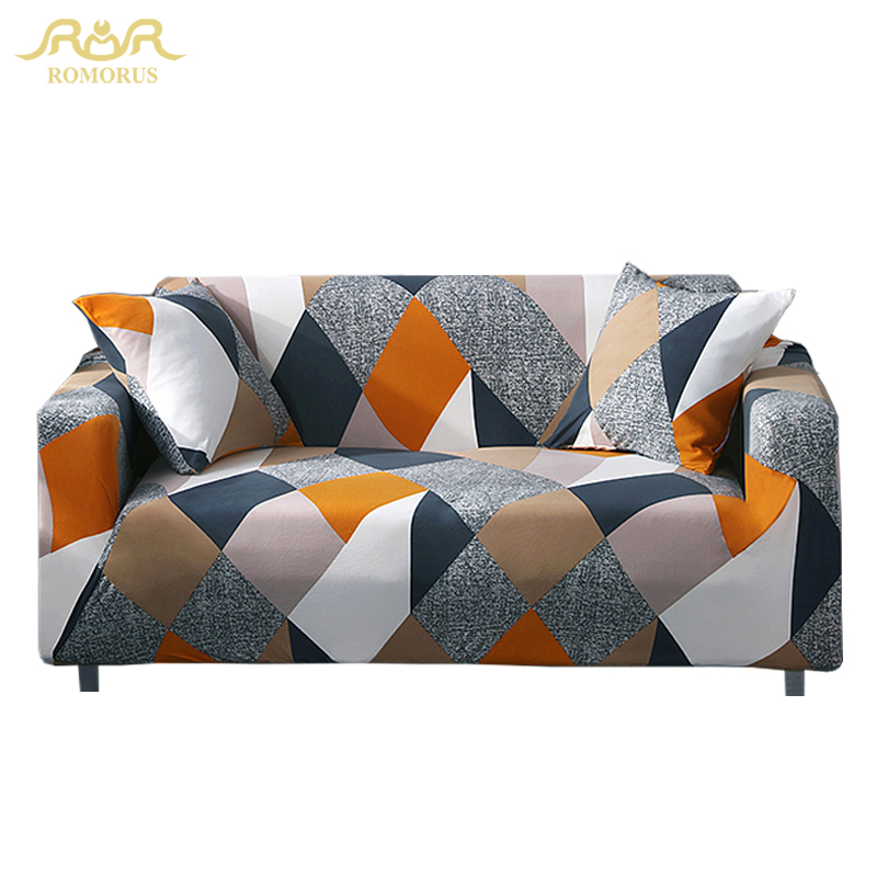 Nordic Style Triangular Printing Sofa Covers One/Two/Three/Four Seater Couch Cover Spandex Fabric Home Decoration Accessories