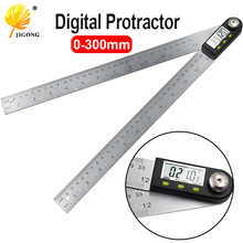 "300mm 12 ""digital ângulo régua finder medidor transferidor inclinômetro goniômetro eletrônico ângulo calibre de aço inoxidável"