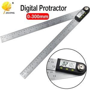"Image 1 - 300mm 12 ""digital ângulo régua finder medidor transferidor inclinômetro goniômetro eletrônico ângulo calibre de aço inoxidável"