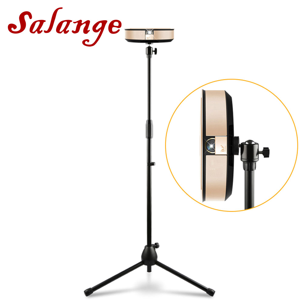 Salange Tripod-Stand-Bracket Projector Floor-Stand Universal for C80 360-Rotate Adjustable