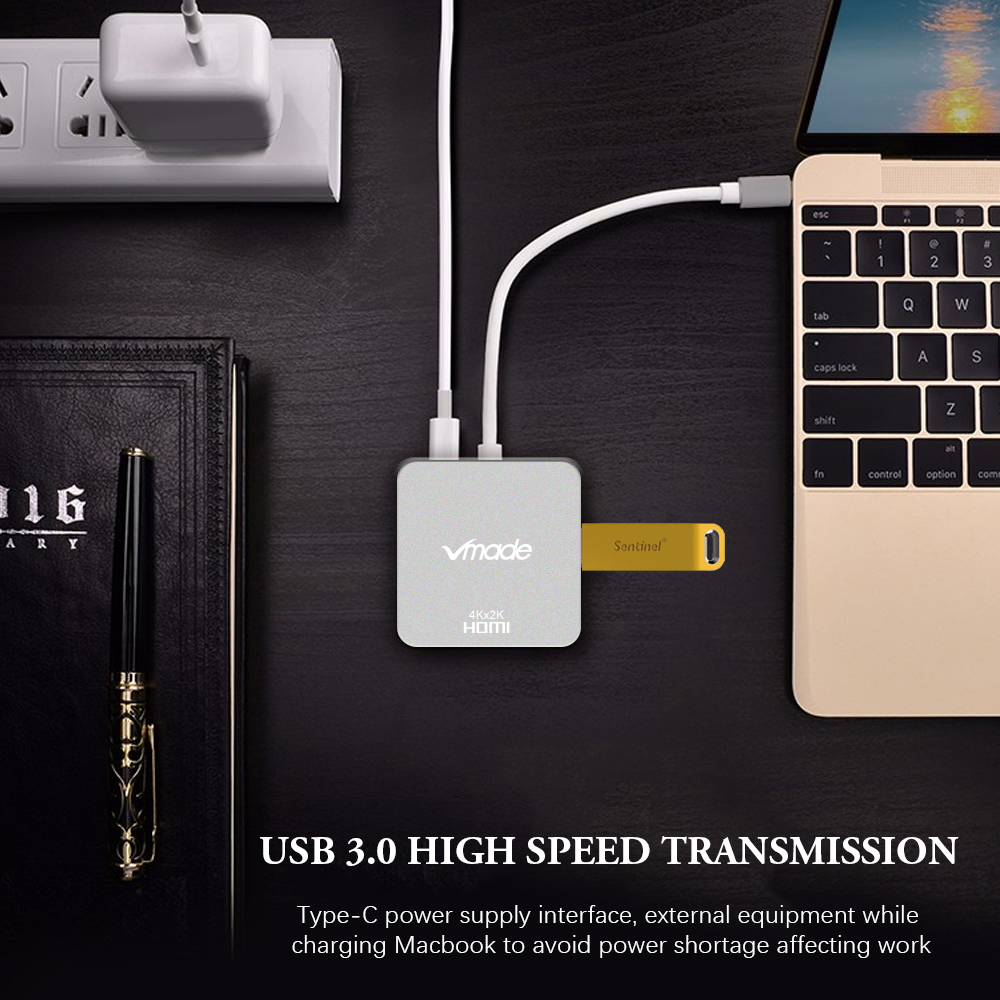Image 5 - Vmade High Quality 4 in 1 Mini Converter Type C USB C HUB to VGA for Huawei/Samsung S8/S8+/MacBook Type C USB C 3.0 Mini Adapter-in USB Hubs from Computer & Office