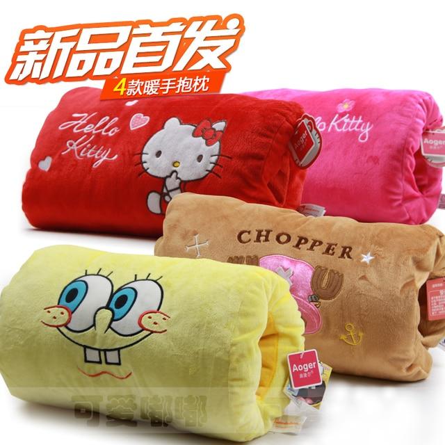 Kt cat hand warmer hand pillow swizzler baby pillow cushion doll plush birthday gift